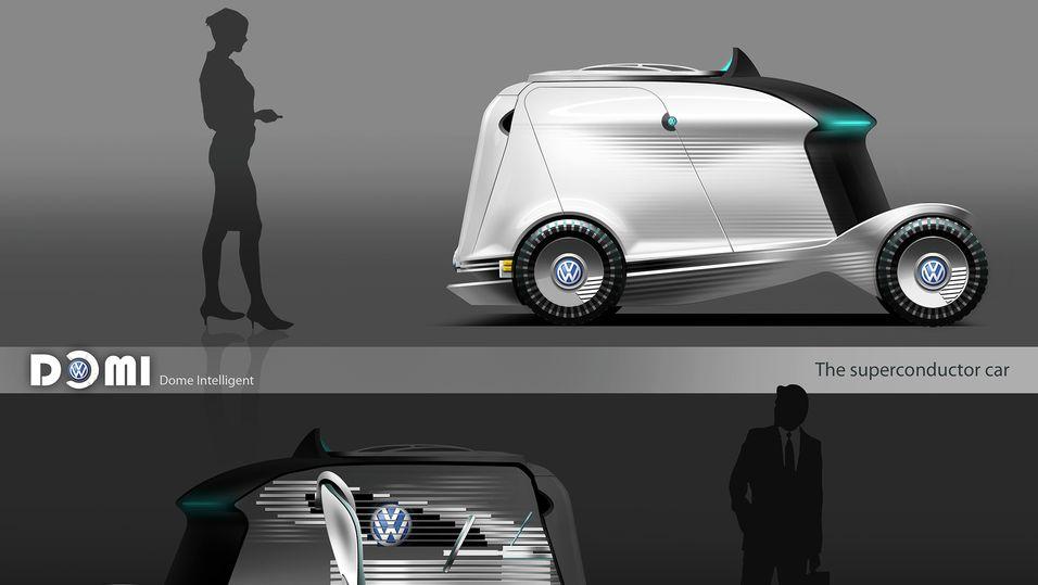 Bilen i profil.
