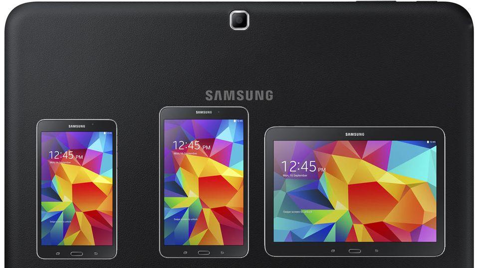 Samsung Tab 4 kommer i tre størrelser.