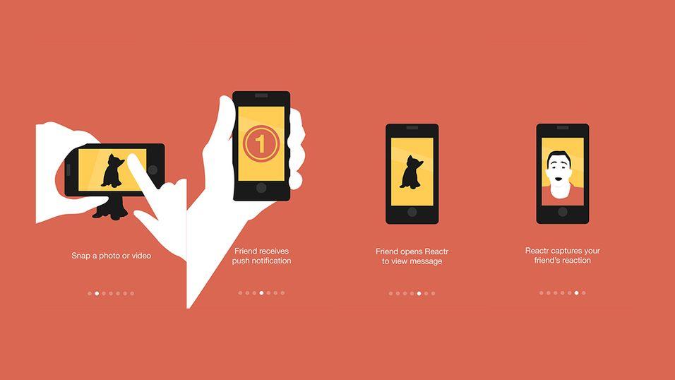 Snap-appen som sender reaksjonen din i retur