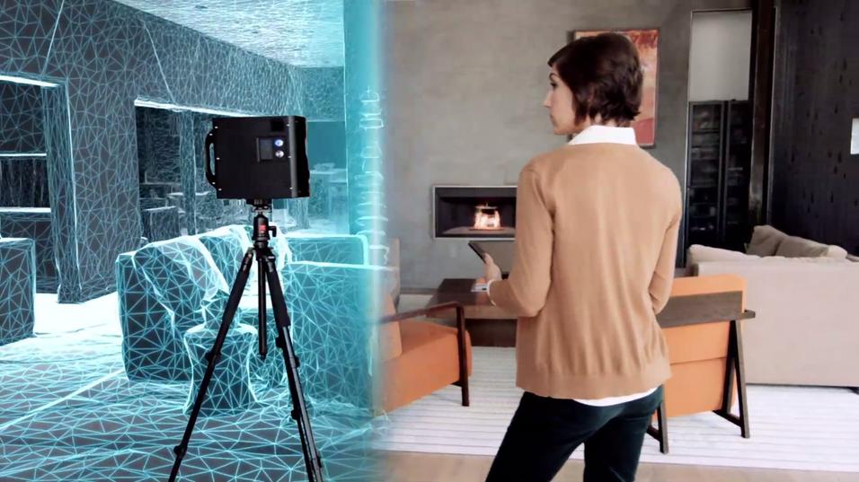 Nytt kamera lager 3D-modeller på et blunk