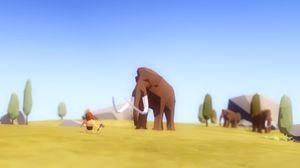 Menneske møter mammut.