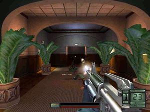 Voldspill er likevel ikke helt frikjent, her representert av Soldier of Fortune II..