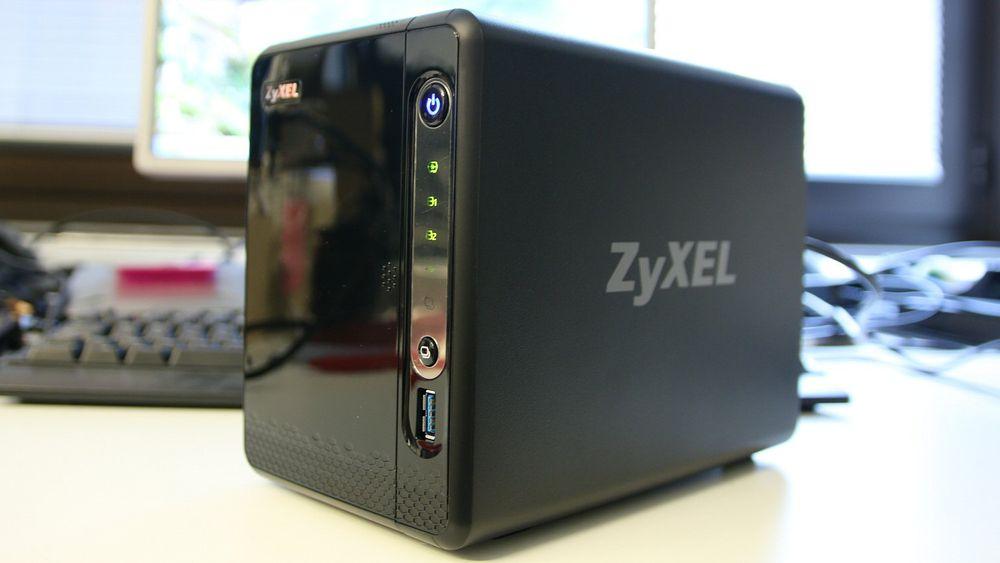 Sort og litt skinnende: Zyxel NSA325 v2.