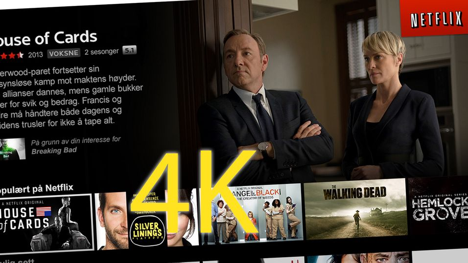 Nå strømmer Netflix i 4K til norske brukere