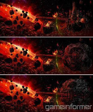 Konseptkunst av Darth Mauls skjulte rombase.