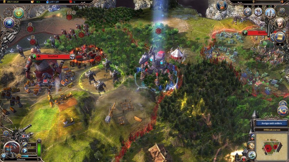Warlock II er et fargerikt spill.