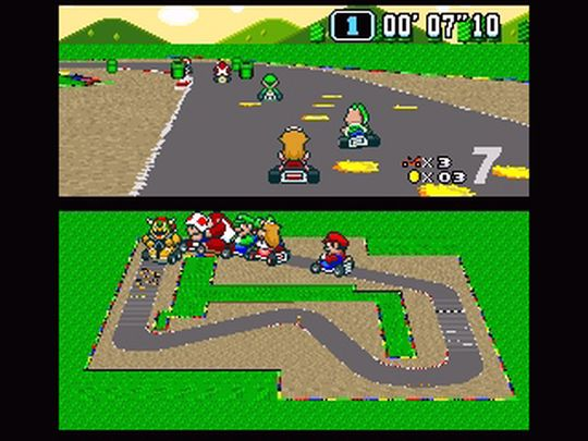 Super Mario Kart.