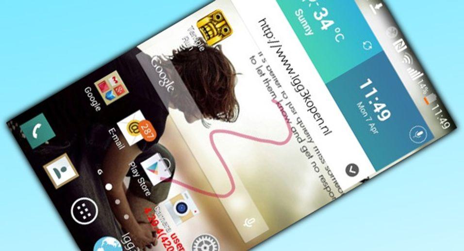 Dette skjermbildet skal komme fra LG G3