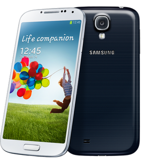 Samsungs Galaxy S4 dukker opp på plass nummer tre.