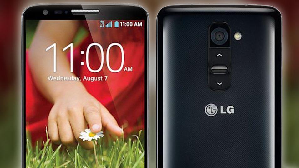 LG G2 var den første mobilen fra LG med hjemknappen på baksiden i stedet for under skjermen.
