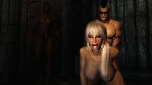 Voldtekt er ganske vanlig blant Skyrims voksenmodder. (Bilde: Loverslab.com).