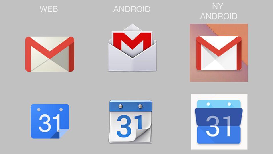 Slik ser de nye Android-ikonene ut