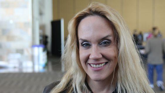 Brenda Romero under GDC14 (Bilde: Jens Erik Vaaler, Gamer.no).