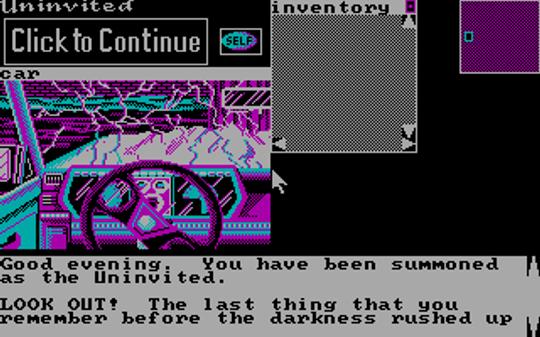 Uninvited kom også til DOS, med CGA-farger.