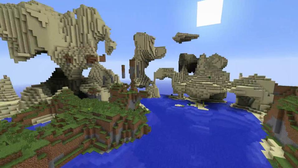 Dette kan du gjøre med Minecrafts neste landskapsgenerator