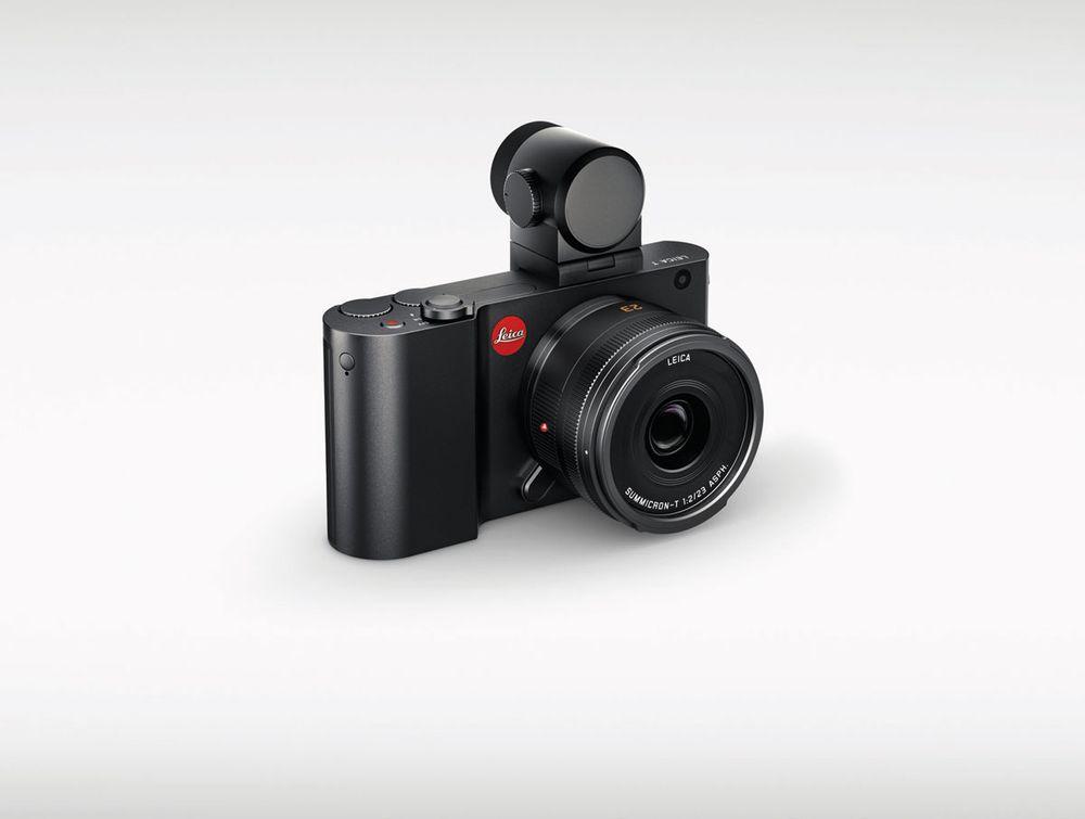 Leica T finnes også i svart.