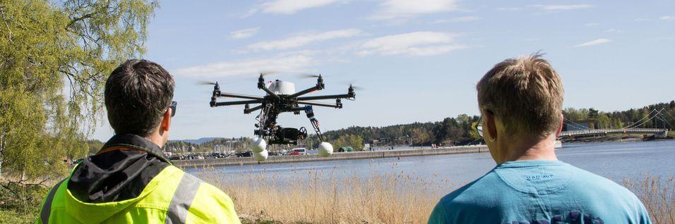 Droner er ikke bare leketøy, men benyttes i Norge av blant andre Technogarden til å planlegge og kontrollere mobilnett.