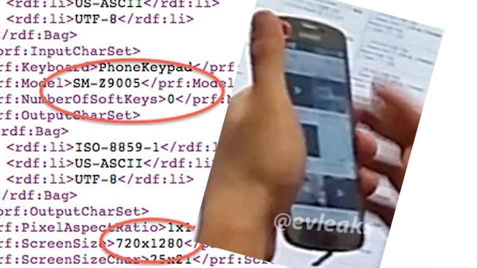 Samsung har sendt ut en Tizen-mobil til utvalgte utviklere. Bildet er fra evleaks.com
