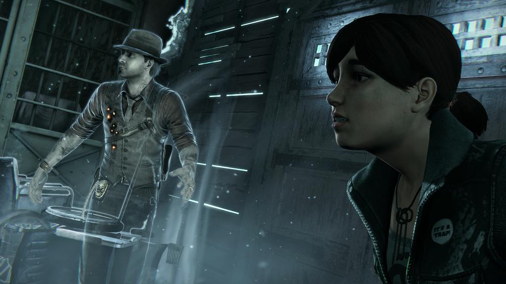 Ronan får underveis hjelp av en jente som kan se spøkelser, lik Cole Sear i Den sjette sansen.