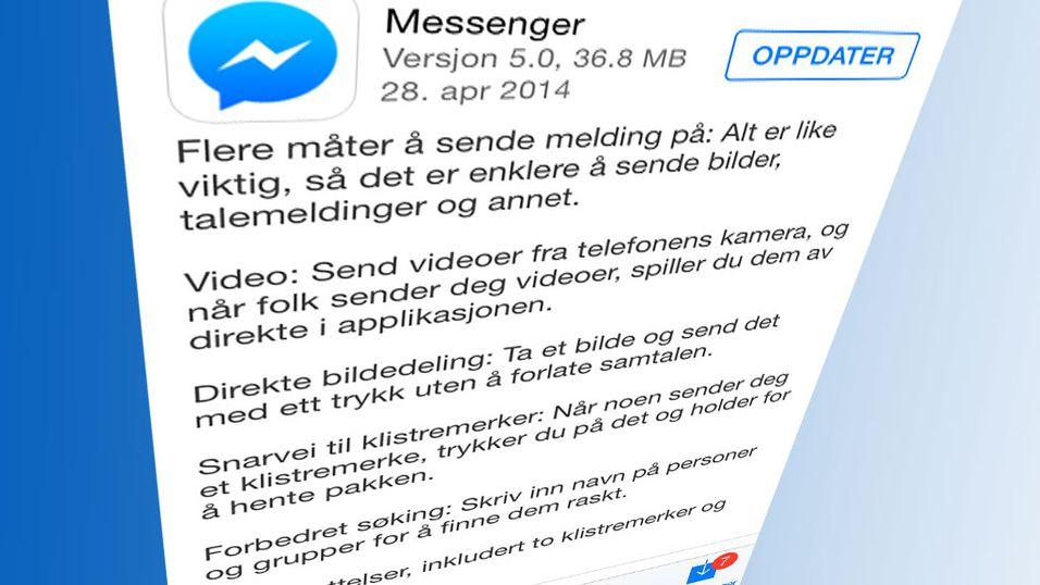 Ny versjon av Facebook Messenger allerede