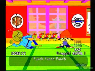 Parappa the Rapper lot spilleren styre en rappende hund som skulle duellere mot andre rappere.