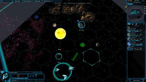 Galactic Civilizations III byr på et paddeflatt verdensromm.