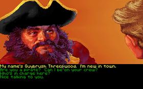 En av de første personene du treffer i Monkey Island.
