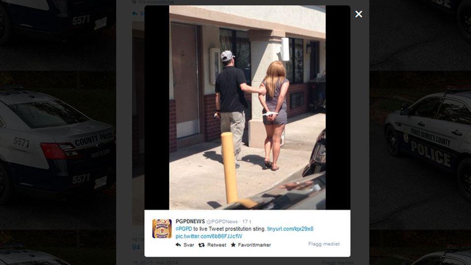 Politiet bruker Twitter som våpen mot horekunder