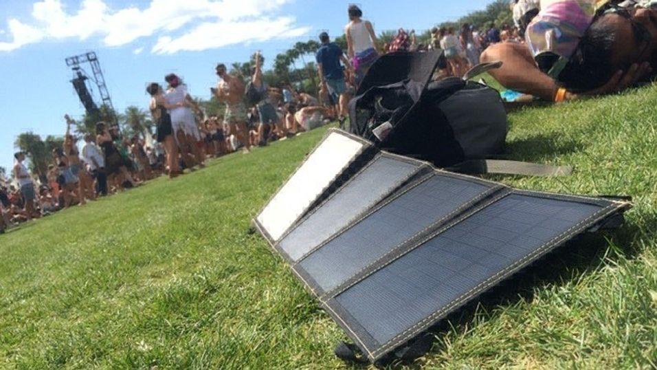 Et portabelt solcellepanel