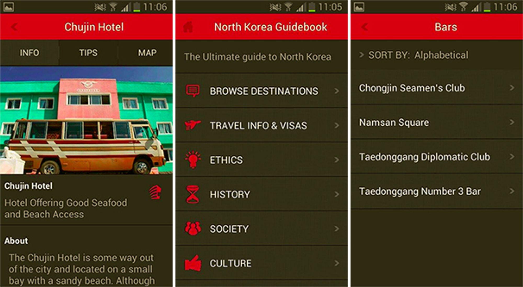 Med kun fire utesteder i Nord-Korea, reiser man neppe hit på party-tur.
