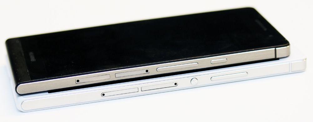 Huawei P7 er en tanke større enn Huawei P6, men til gjengjeld har dem større skjerm med høyere oppløsning, raskere prosessor, LTE (4G) og større batteri.