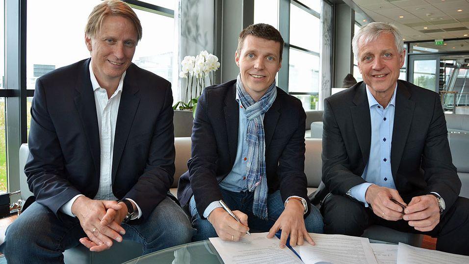 Gisle Pedersen adm.dir i Canal Digital Kabel-tv, Jo Christian Oterhals VGTV, Petter Carlsen adm.dir i Canal Digital Norge.