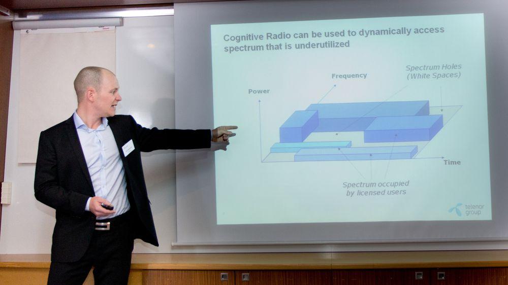 Telenor Researchs Grønsund forklarer konseptet kognitiv radio