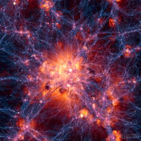 Oversikt over så godt som hele universet, sentrert på den største ansamlingen materie.