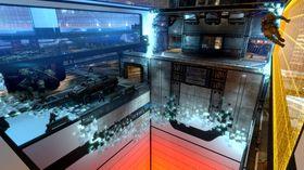 Wargames skilter med gjennomsiktige korridorer.