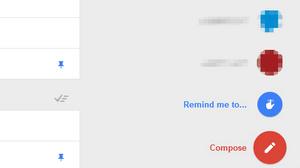 Kladder og påminnelser blir flyttet ned til høyre sammen med muligheten for å opprette ny e-post. .