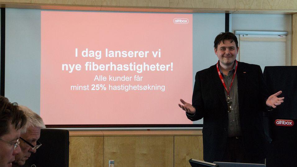 Øyvind Lundbakk, produkdirektør i Altibox presenterte gode nyheter for selskapets kunder i  dag.