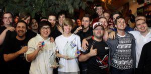 Snute vant det meste, også når han var med i GamersLeague. Her har han nettopp vunnet HomeStory Cup VI.