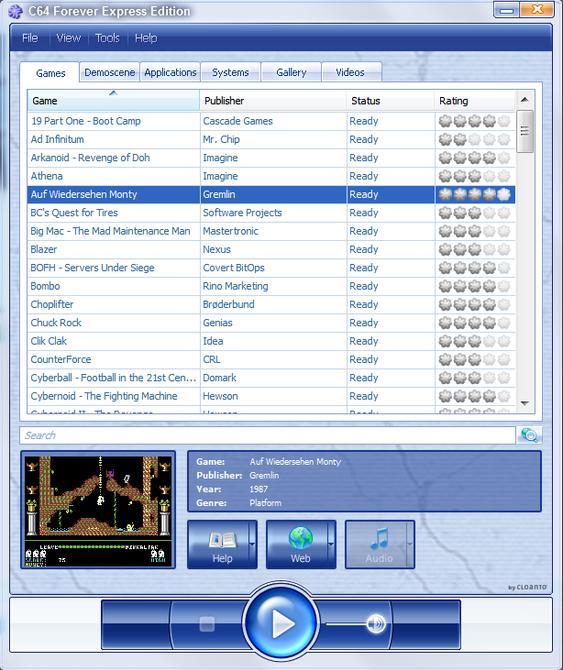 C64 Forever er lettfattelig, og gratisversjonen har mange spill.