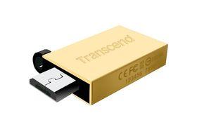 De fleste OTG-pinnene er utformet som en vanlig USB-kontakt, med et lokk på baksiden. Dette er Transcends variant.