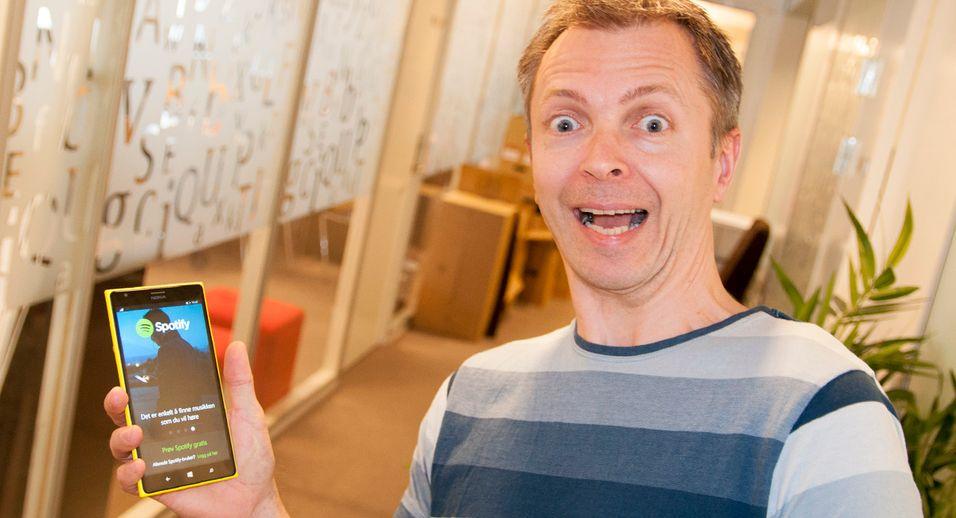 Amobils fagredaktør Kurt Lekanger ble svært overrasket da han fikk se den nye Spotify-appen på Windows Phone.