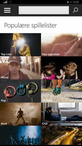 Denne skjermen lar deg bla rundt i nytt Spotify-innhold.