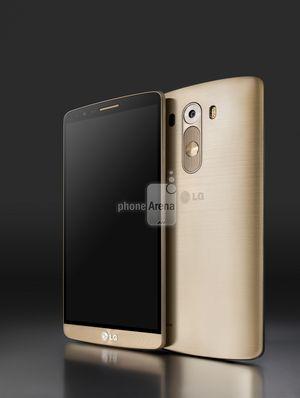 Pressebilden som er lekket ut viser at LG kaster seg på gull-bølgen. I tillegg vil telefonen komme i sølvgrått og i sort.