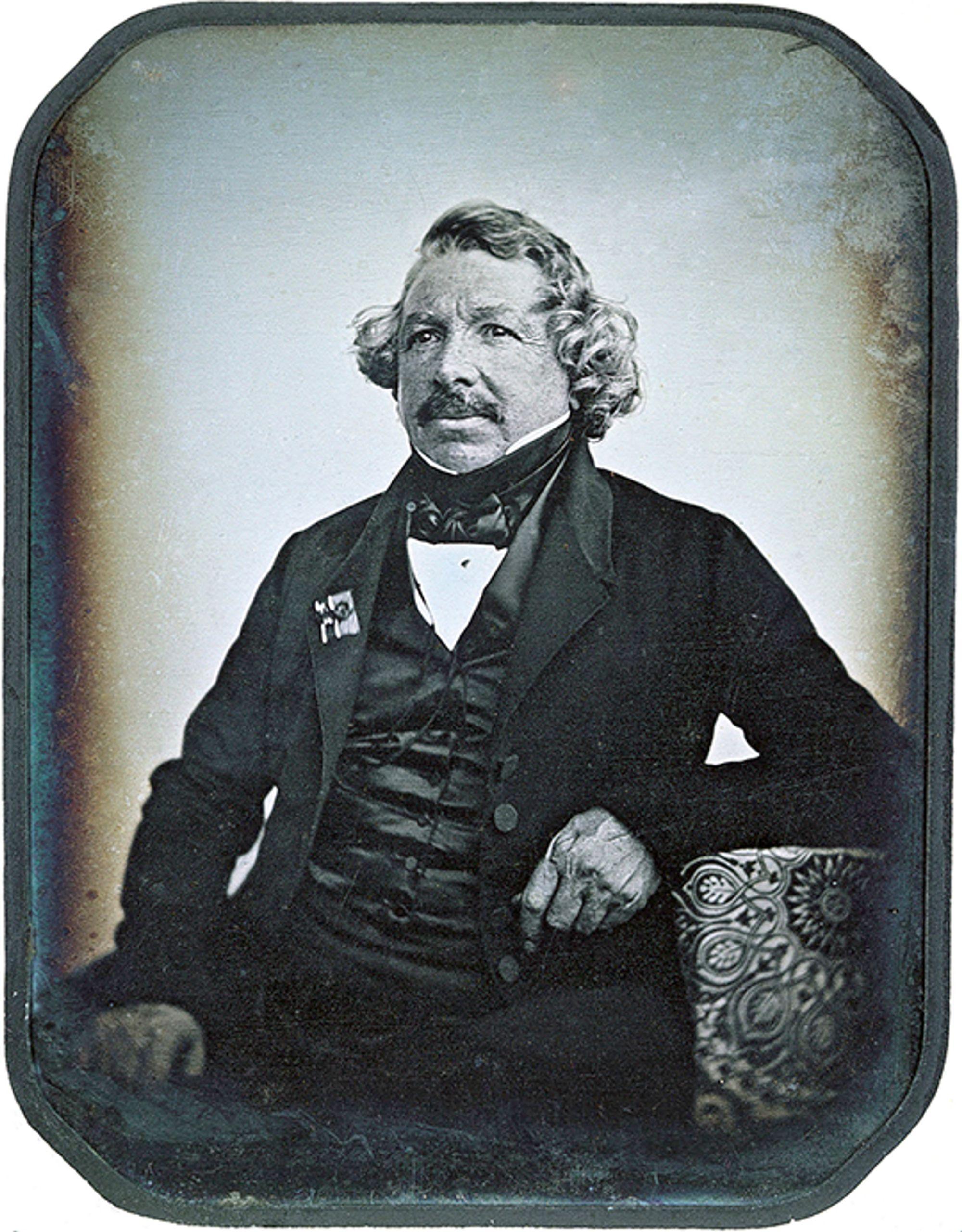 Daguerrotypi av Louis Daguerre, tatt i 1844.