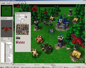 Brettredigeringsverktøyet i Warcraft III.
