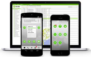 Divide finnes til både Android og iOS, og består også av en administrasjonsløsning.
