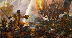 Orker møter romsoldater i Warhammer 40,000: Armageddon