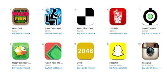 Weed Firm danker ut både Snapchat og Instagram denne uken i amerikanske App Store.