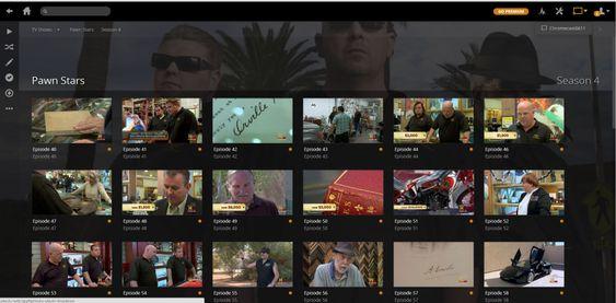Plex gir deg mulighet til å vise filene dine på TV-en via Chromecast. Legg merke til Google Cast-ikonet oppe i det høyre hjørnet. .