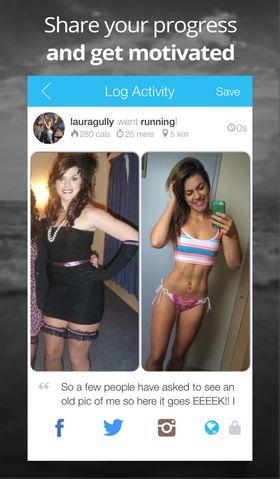 Slike bilder er det altså meningen at du skal legge ut for å motivere deg selv.